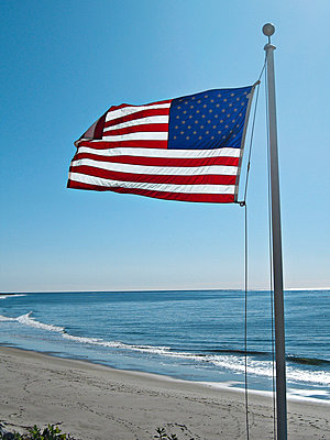 American flag - p1092m900075 by Rolf Driesen