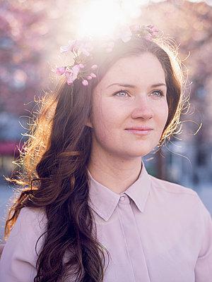 Cherry blossom - p1507m2044034 by Emma Grann