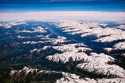 Aerial view, Alps - p913m2125521 by LPF