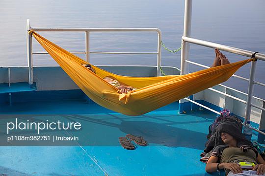 Passagiere auf dem Deck - p1108m982751 von trubavin