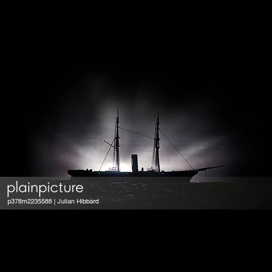 Vintage steamship - p378m2235588 by Julian Hibbard