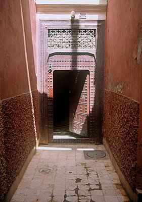 Open door in Riyad, Marrakech, Morocco - p1072m829272 by Neville Mountford-Hoare