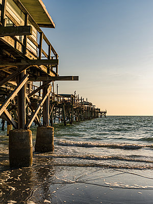 Old pier on the Atlantic Coast - p1335m1586371 by Daniel Cullen