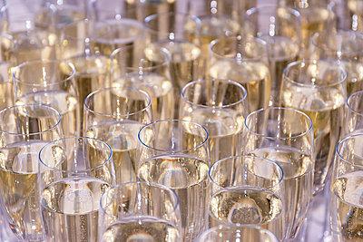 Sparkling champagne glasses - p300m1460520 by Scott Masterton