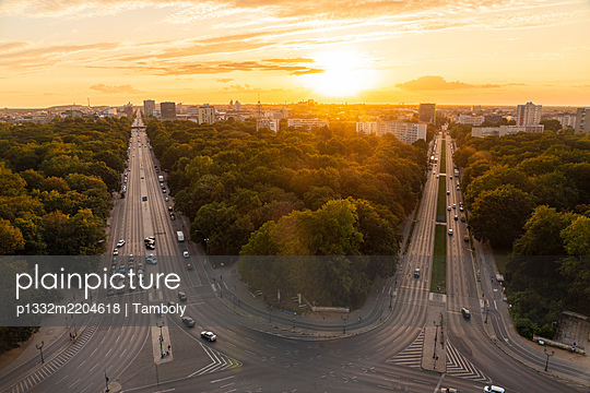 View of Berlin skyline from Siegessäule - p1332m2204618 by Tamboly
