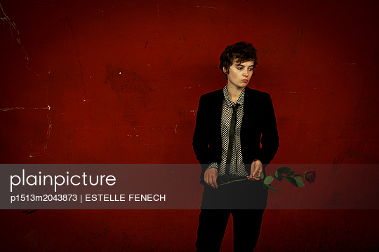 The girl with the rose - p1513m2043873 by ESTELLE FENECH