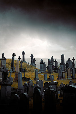 Graveyard on a hill - p1248m2297928 by miguel sobreira