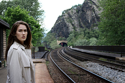 At a Station Platform I - p1019m808011 by Stephen Carroll