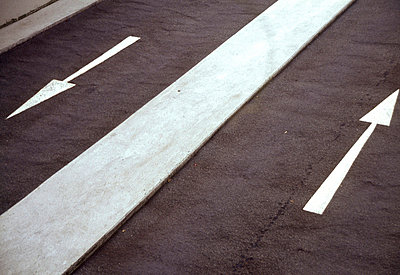 Lane with Direction Arrows ane with Direction Arro - p4900506 by Ilubi Images