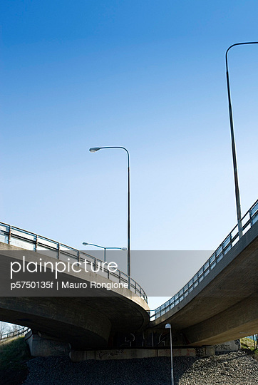 A viaduct seen from below Stockholm Sweden - p5750135f by Mauro Rongione