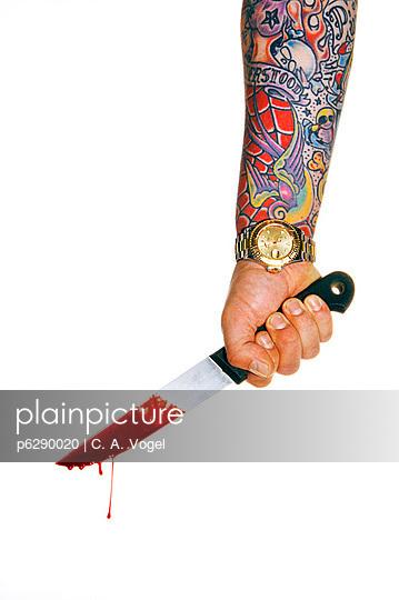 Messer mit Blut - p6290020 von C. A. Vogel