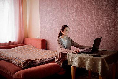 Frau am Computer - p1319m1154982 von Christian A. Werner