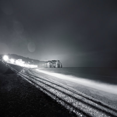 Beach at night - p1137m940675 by Yann Grancher