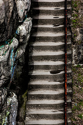 Stone stairs - p248m1020111 by BY