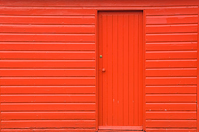 Red Wooden Shed - p1100m2090759 by Mint Images