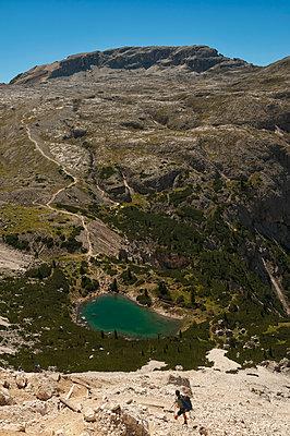 Blick auf de Lagazuoisee - p470m1190137 von Ingrid Michel