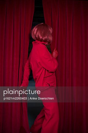 Woman in red - p1621m2260403 by Anke Doerschlen