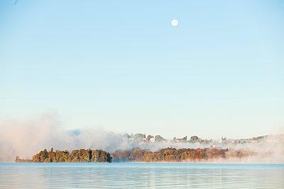 Roseninsel im Morgennebel, Starnberger See, Bayern, Deutschland - p1316m1160610 von Wilfried Feder