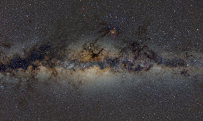 Namibia, Region Khomas, near Uhlenhorst, Astrophoto, Band of Milky Way featuring the bulge of our galaxy and the galactic center - p300m1505620 by Thomas Grohmann