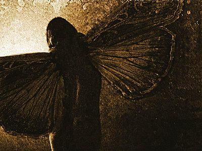 Frau mit Schmetterlingsfluegeln - p9792861 von Zickert