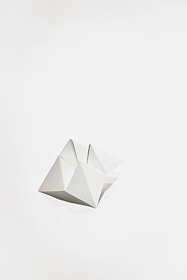 Folded paper, Origami - p1072m2167987 by Neville Mountford-Hoare