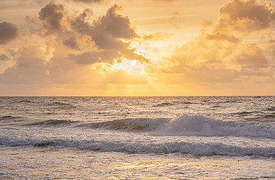 Sunset over sea - p1427m2285543 by Tom Grill
