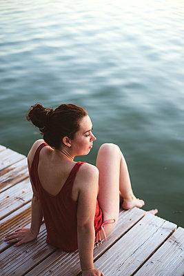 Sommerabend am See, Großer Lychensee - p1396m2015011 von Hartmann + Beese