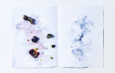 Trauben auf einem Küchenpapier - p1397m2054585 von David Prince