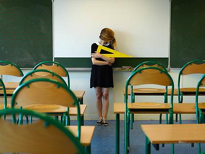 Schoolgirl - p1413m2008468 by Pupa Neumann