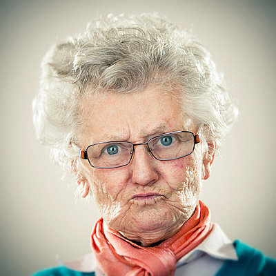 Portrait of an elderly lady - p300m1416412 by ZoneCreative
