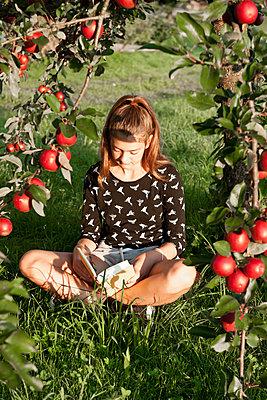 Unter dem Apfelbaum lesen - p533m2044358 von Böhm Monika