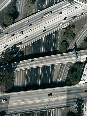 Highway in Los Angeles - p356m822592 by Stephan Zirwes