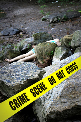 Crime Scene at a River II - p1019m808007 by Stephen Carroll