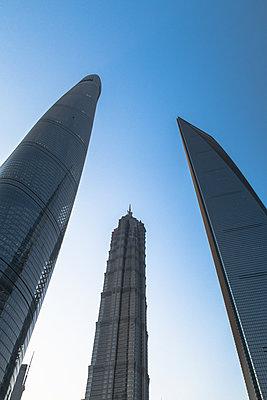 Skyscrapers in Shanghai - p795m1161272 by Janklein