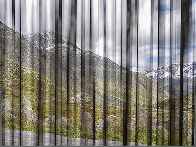 Blick durchs Fenster auf den Julierpass - p318m1170033 von Christoph Eberle