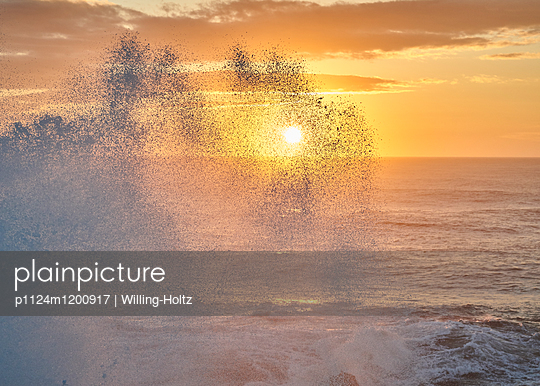 Welle in Nazaré - p1124m1200917 von Willing-Holtz