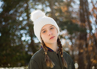 Girl in White Hat - p1503m2015932 by Deb Schwedhelm
