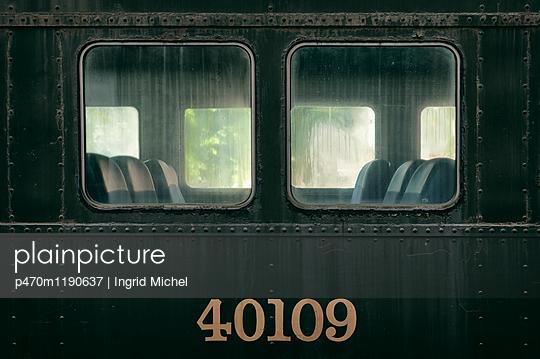 Vintage railway car in Halifax - p470m1190637 by Ingrid Michel
