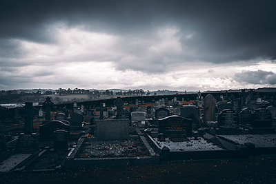 Graveyard at twilight, the grave of St. Patrick, Northern Ireland - p1681m2283597 by Juan Alfonso Solis