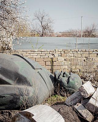 Gestützte Lenin-Statue, Ukraine - p1319m1149916 von Christian A. Werner