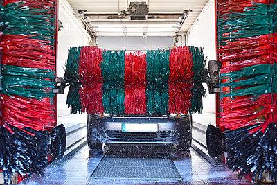 Car in a car wash - p300m1047482f by lyzs