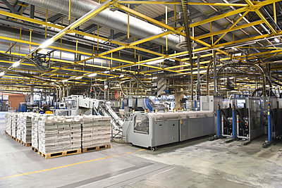 Machines for transport and sorting plant in a printing shop - p300m2104423 by Sten Schunke