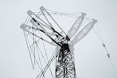 Double exposure of Crane - p301m960790f by Michael Mann