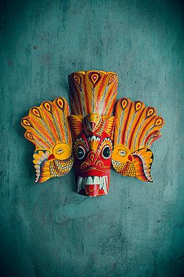 Sri Lankan wooden mask - p1028m1018619 by Jean Marmeisse