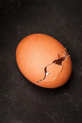 Empty eggshell - p971m1550369 by Reilika Landen