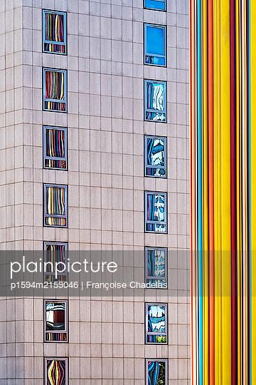 Bunte Fassade - p1594m2159046 von Françoise Chadelas