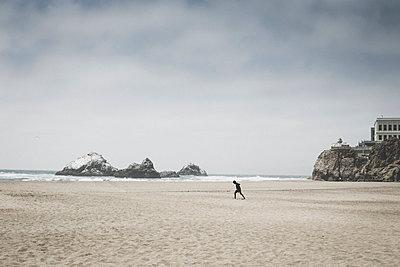 Beach Scene - p1290m1152477 by Fabien Courtitarat