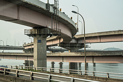 Traffic junction with bridges - p846m1355537 by exsample