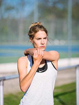 Stretching exercise - p1600m2230793 by Ole Spata