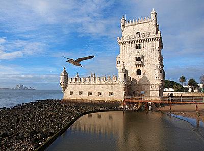 Torre de Belem in Lisbon - p338m1355499 by Marion Beckhäuser